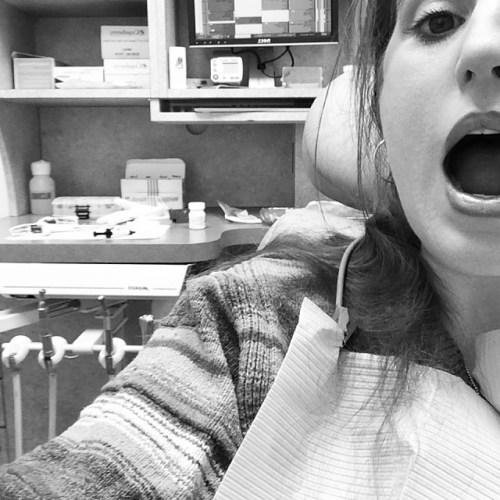 My first filling.  #dentist #teeth