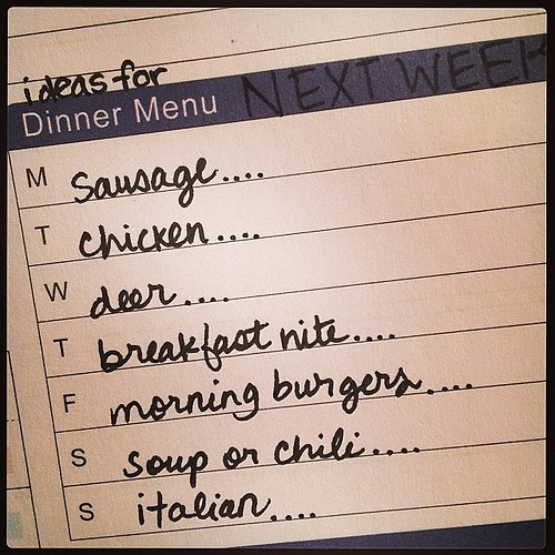 Making next week's menu... Any fave recipes for these meats/meal types? #schedule #hschallenge