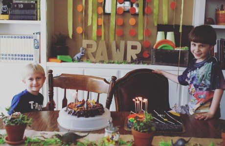 Dinosaur and Star Wars Themed Birthday Party Ideas