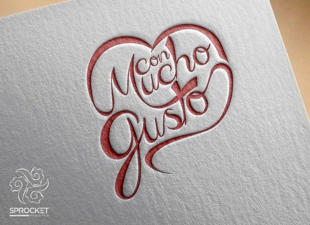 Con Mucho Gusto Logo Design