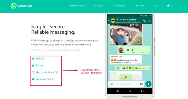 WhatsApp Official Website