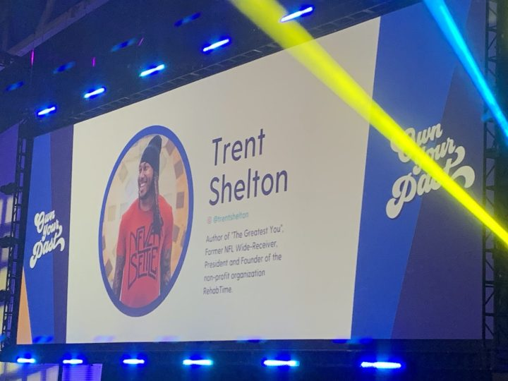 Picture of Trent Shelton at the Rise Conference in Dallas, Tx. He was one of the powerful speakers at the conference. #Sprouting-Vitality #TrentShelton #Madeformore #risexdallas #