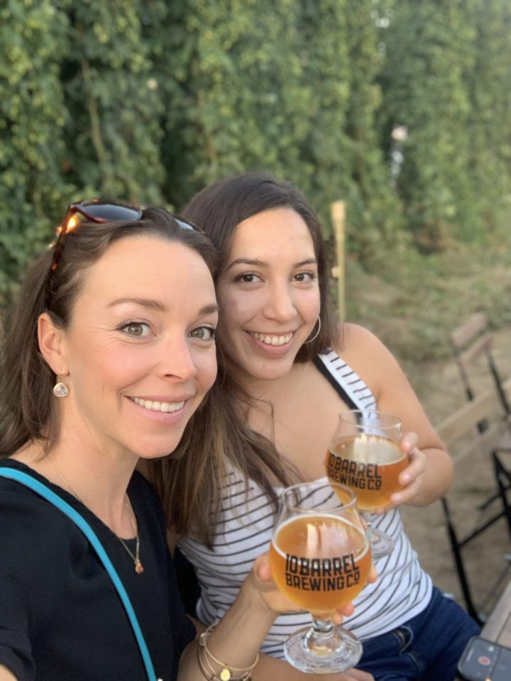 A photo of Sarahi and I cheersing to the first beer paired to start the dinner and the wonderful evening. For more food and travel posts be sure to follow me at www.sprouting-vitality.com or on instagram at sproutingvitality. #kenzinthekitch or #mckenzieonthemove