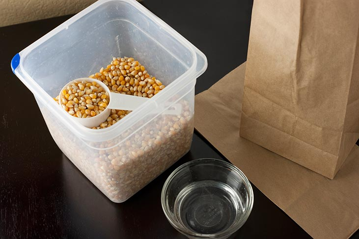 chemical free microwave popcorn