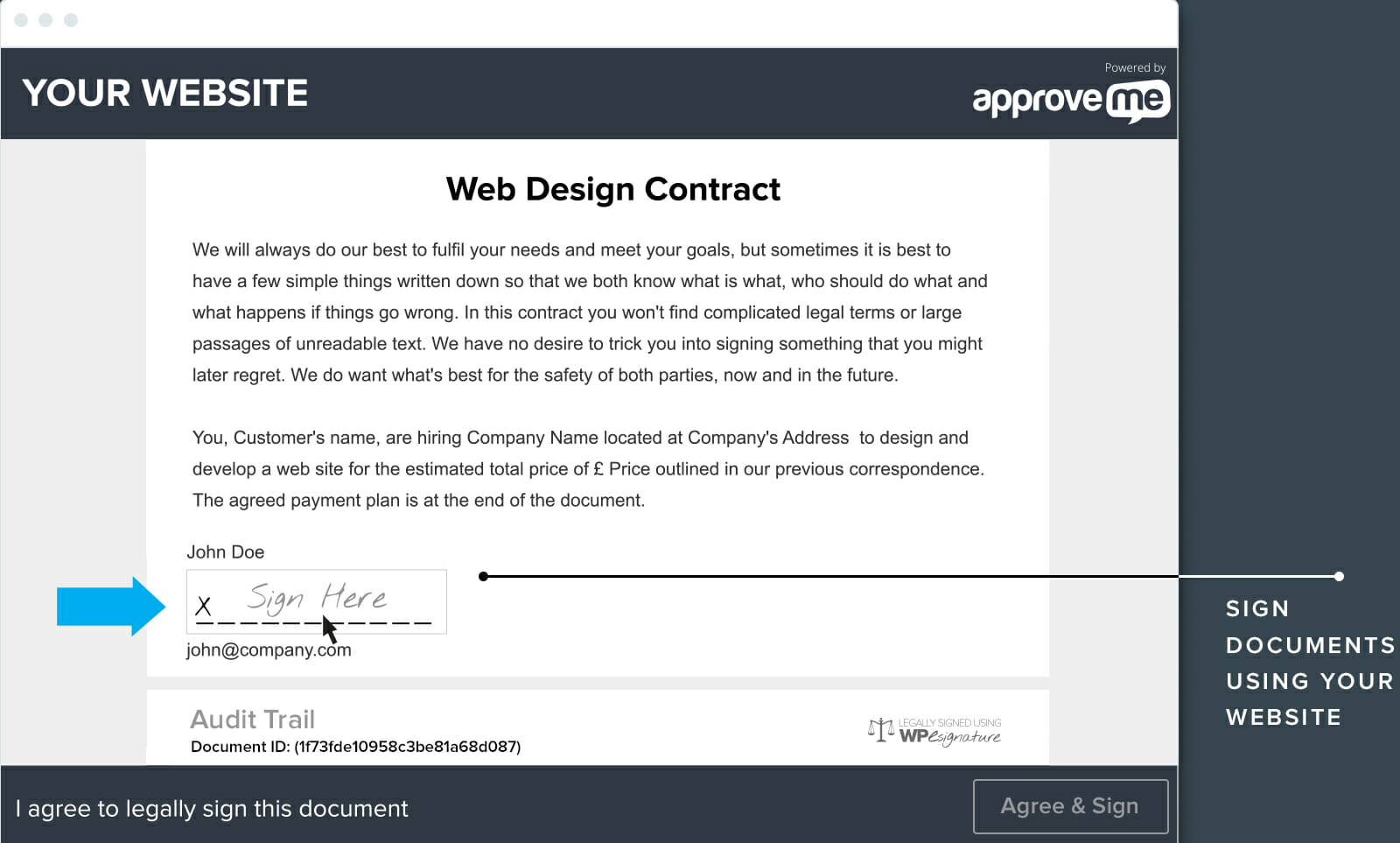 Legally Binding Digital Signatures With WP ESignature Sprout Invoices - Legally binding document