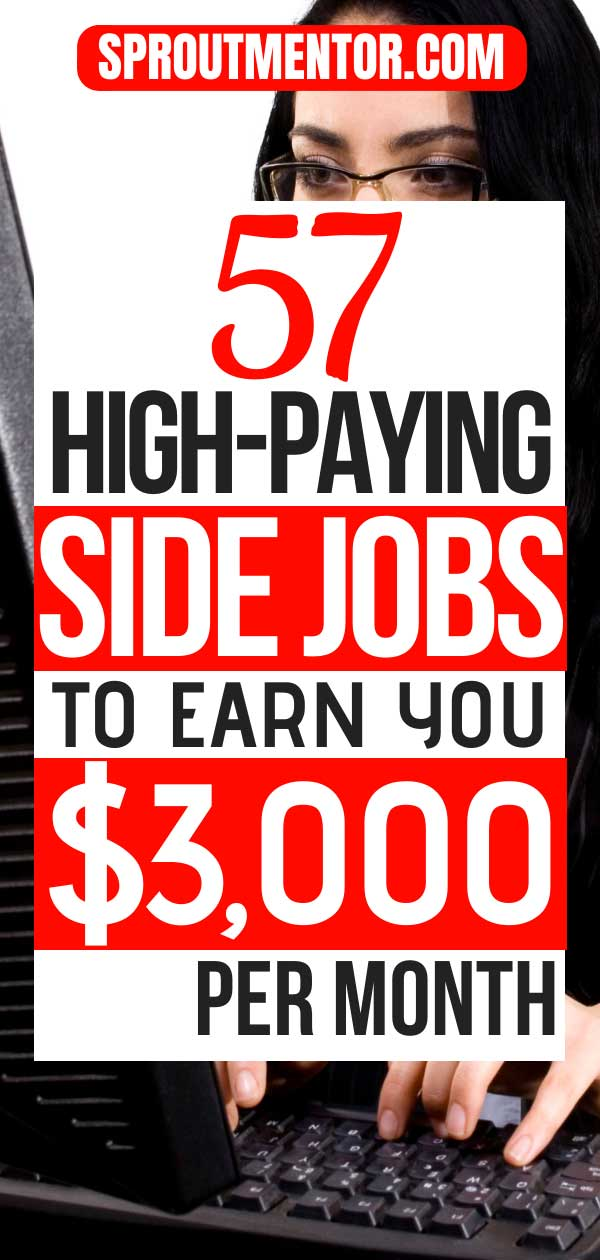 Here are 60 beginner friendly side jobs you can do from home and make more than $2,000 per month. #sidejobs #sidejobsfromhome #sidejobsideas #sidehustles #sidegigs #sidehustlesjobs #sidejobsonline #makemoneyontheside #workfromhome #workfromhomejobs #makemoneyonline #onlinejobs