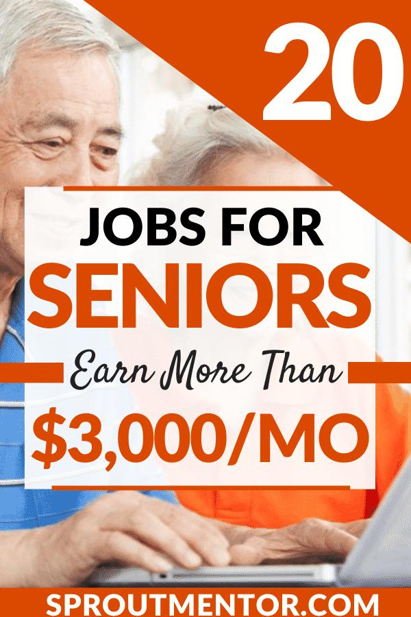 Jobs for seniors Sproutmentor Pinterest Pin