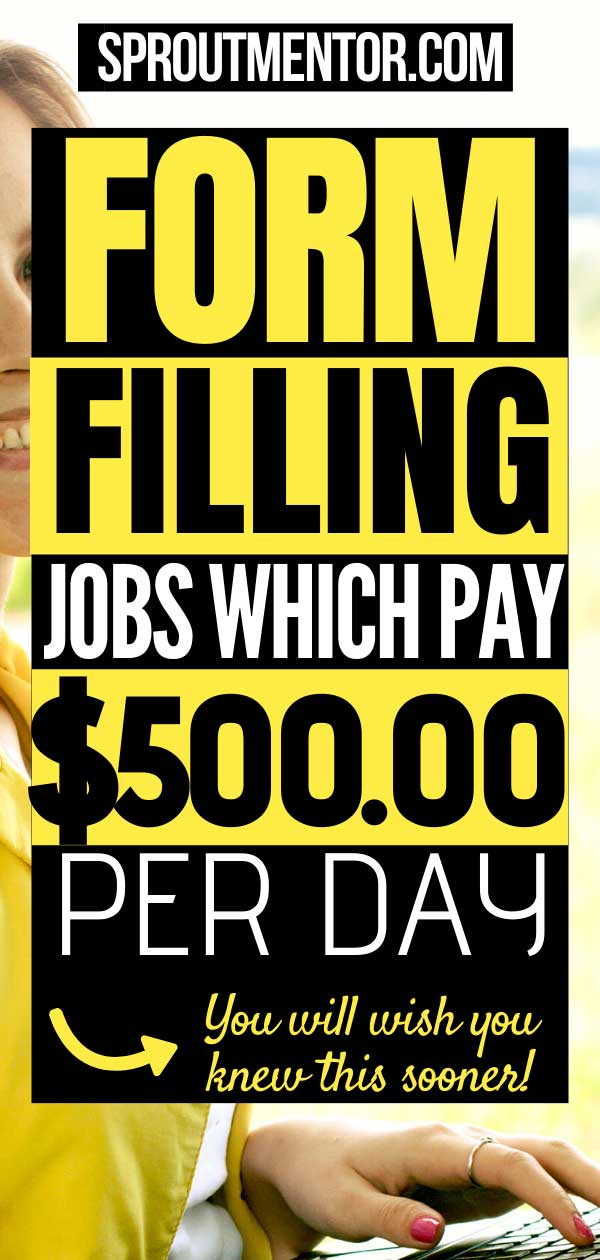 form filling jobs without investment in usa