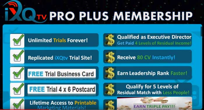 Ixqtv reviews-Pro-Plus-Membership-Benefits