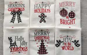 Christmas-Crafts-to-sell-Merry-Christmas-gingham