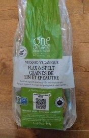 One Degree Organic Foods Flax & Spelt sprouted grain bread (frozen)