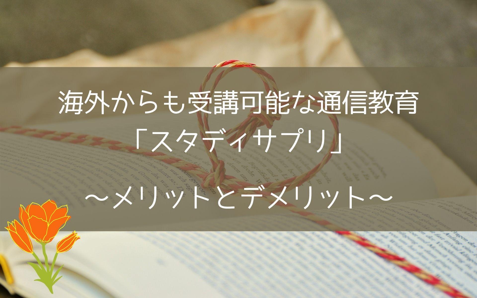 海外からも受講可能な通信教育「スタディサプリ」~メリットとデメリット~