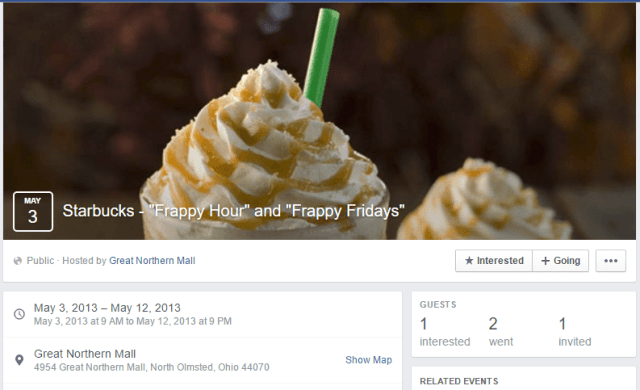Starbucks Frappy Hour Event