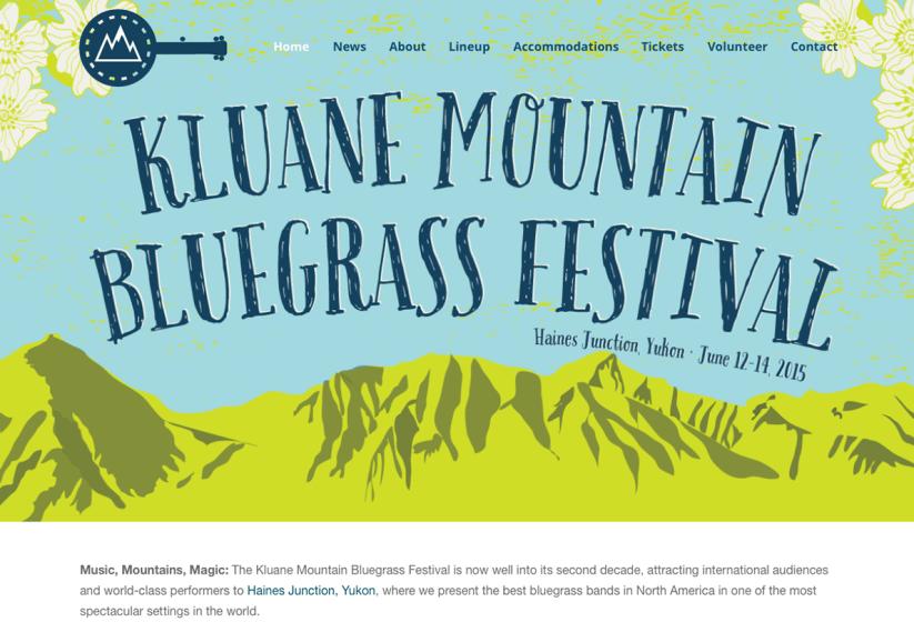 2015 Kluane Mountain Bluegrass Festival website