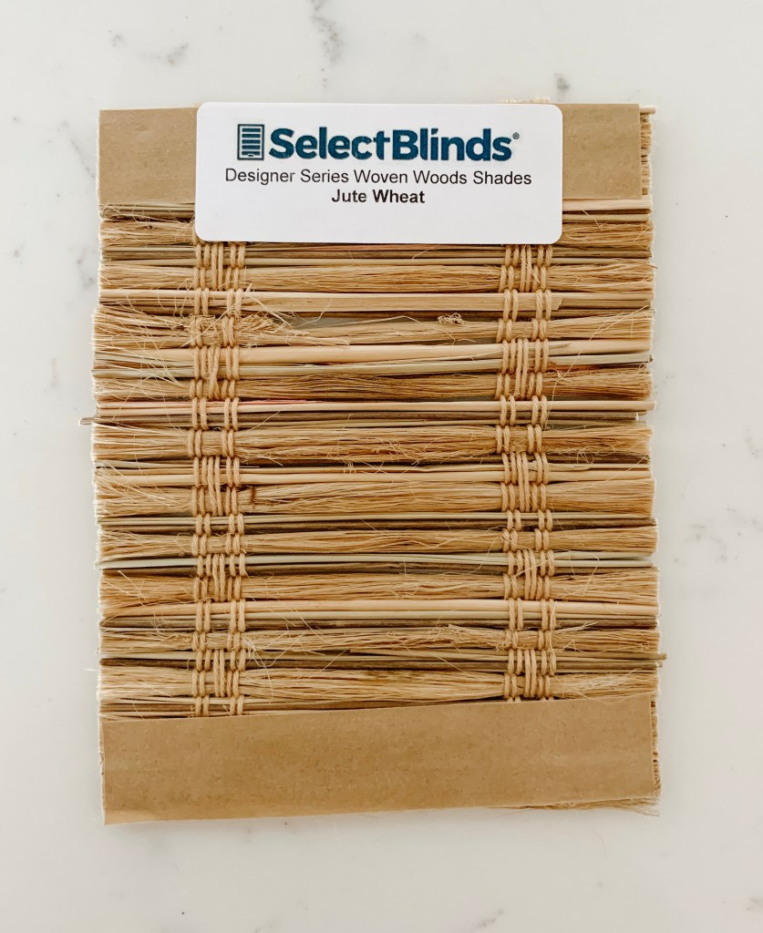 Select blinds sample in Jute Wheat