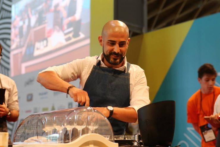 French Barista Champion Luca Casadei