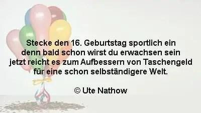 16 Geburtstag Gluckwunsche