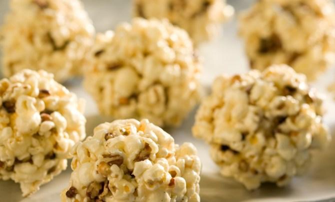 Maple Popcorn Balls