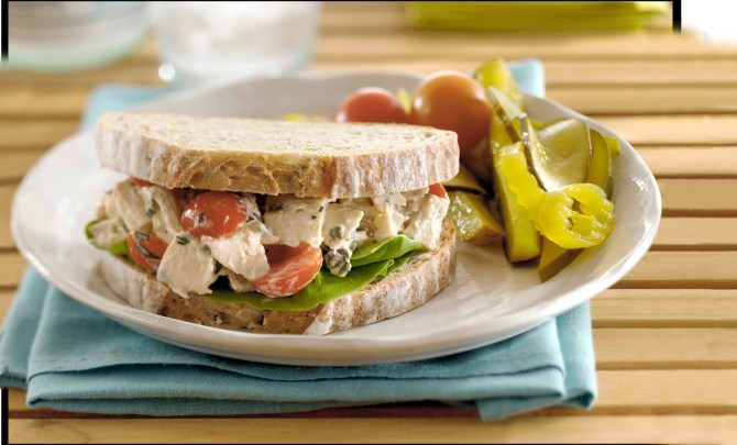 chicken-salad-sandwich-tomato-quick-easy-health-left-over-dinner-idea-recipe-spry