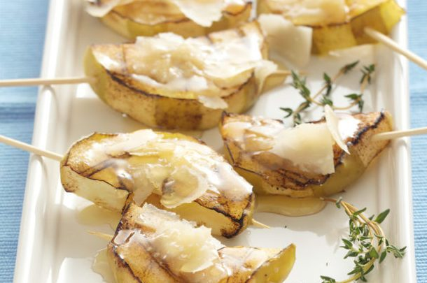 grilled apples with parm