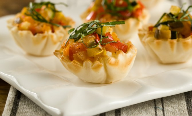winter ratatouille tartlets