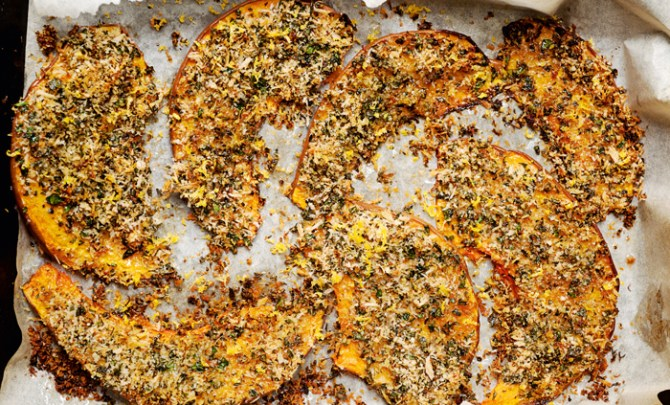 crusted-pumpkin-wedges-sour-cream-plenty-vegetarian-cookbook-recipe-health-diet-spry