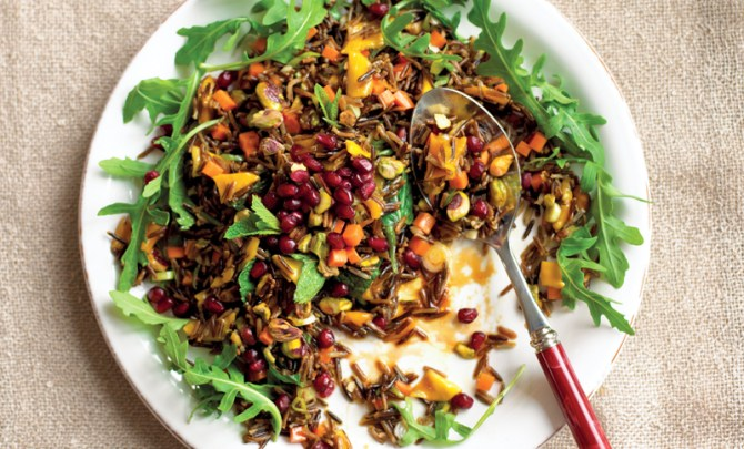 wild-rice-mint-pomegranate-salad-quick-easy-health-dinner-side-pressure-cooker-cookbook-recipe-spry