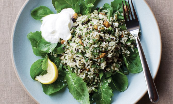 brown-rice-grape-leaf-salad-dinner-cookbook-diet-nutrition-health-food-spry