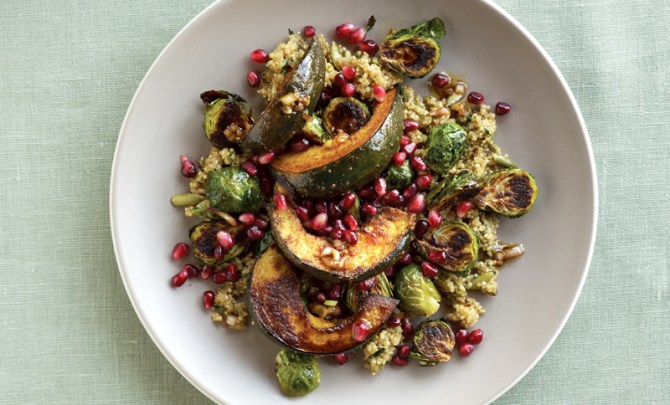 roasted-acorn-squash-brussles-sprout-salad-dinner-cookbook-diet-nutrition-health-food-spry