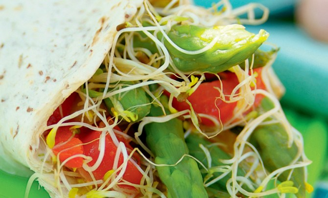 the-vegetarian-kitchen-table-cookbook-crunchy-vegetable-alfalfa-wraps-recipe-eat-health-diet-nutrition-spry