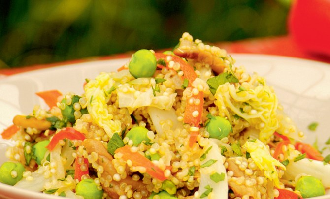 the-vegetarian-kitchen-table-cookbook-quinoa-simmered-fennel-wild-mushroom-recipe-eat-health-diet-nutrition-spry