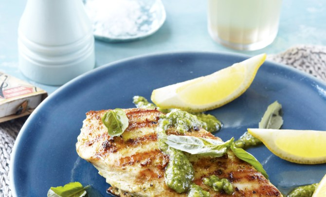 pesto-chicken-fire-island-cookbook-diet-recipe-eat-healthy-food-spry