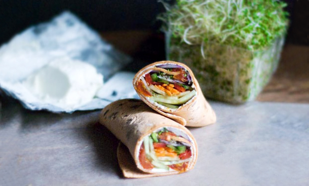 fresh-veggie-vegetable-wrap-tortilla-cream-cheese-lunch-quick-health-easy-spry