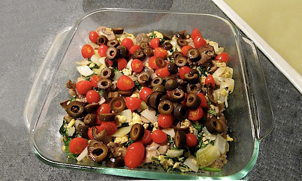 easy-greek-casserole-olive-tofu-feta-spinach-mushroom-brown-rice-whole-grain-health-spry