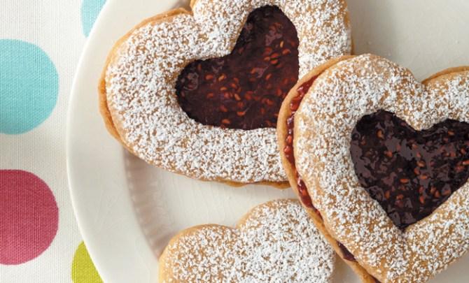 Gluten-free Linzer Heart Cookie Recipe.