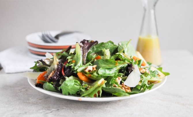 Mixed Greens and Roasted Butternut Squash Salad recipe.