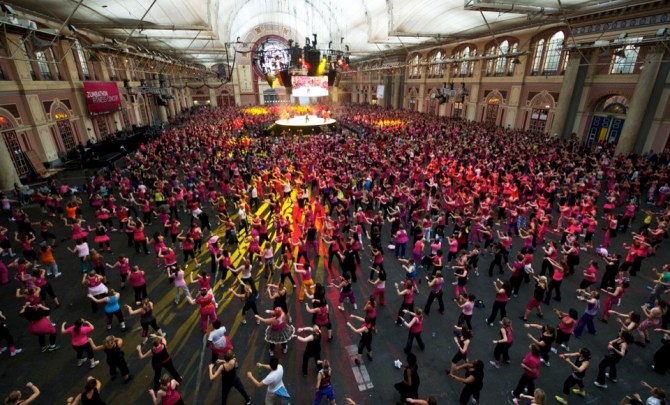 The Zumbathon, in London, is one of the most outrageous breast cancer events.