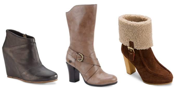 Stylish fall/winter 2012 boots that are comfortable including Rockport, UGG and Born.
