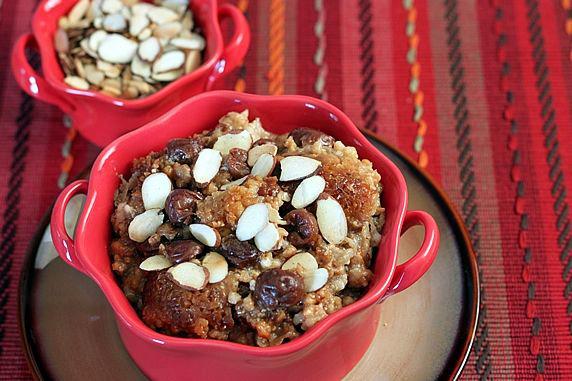 Healthy oatmeal breakfast made in the Crock Pot.