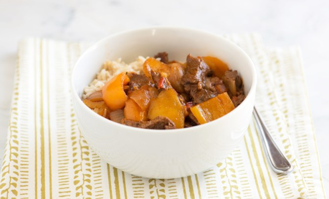 Healthy Steak and Pepper Crock Pot recipe.