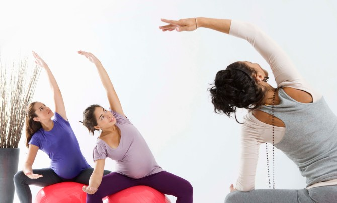 Pregnancy exercise group class