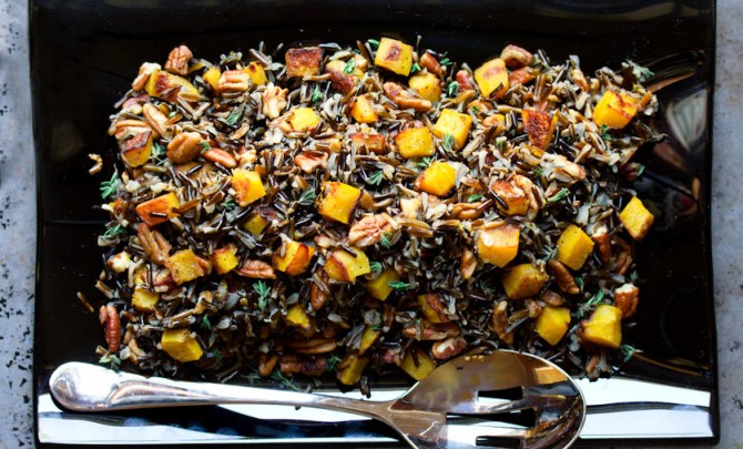 Black and Orange Forbidden Rice with Roasted Acorn Squash and Pecans recipe.
