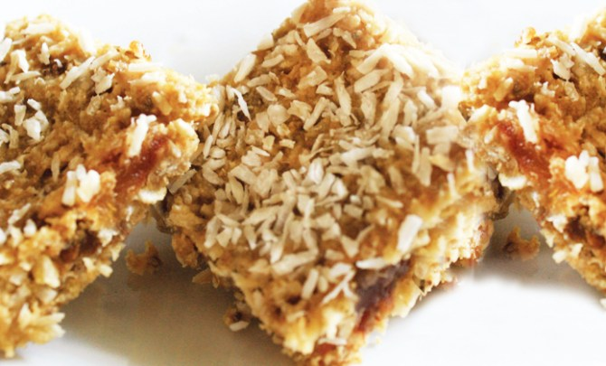 Lemon Coconut Breakfast Bars recipe from Superfood Kitchen cookbook.