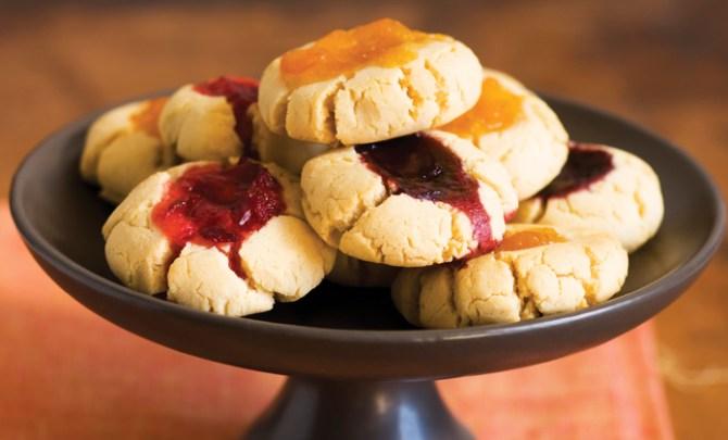 Gluten-free Thumbprint Jam Cookies.
