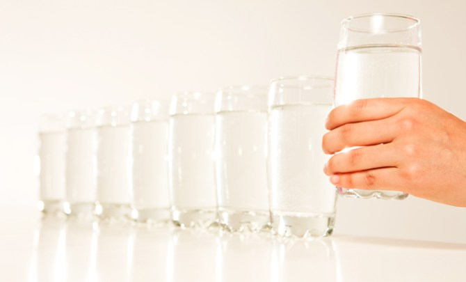 Tips for ways to drink more water.