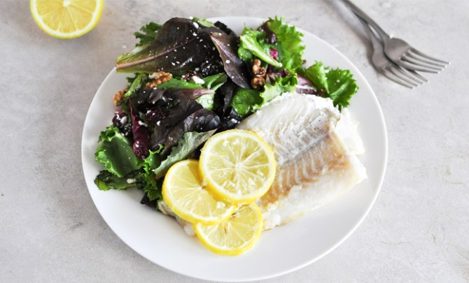 Lemony Baked Fish Recipe.