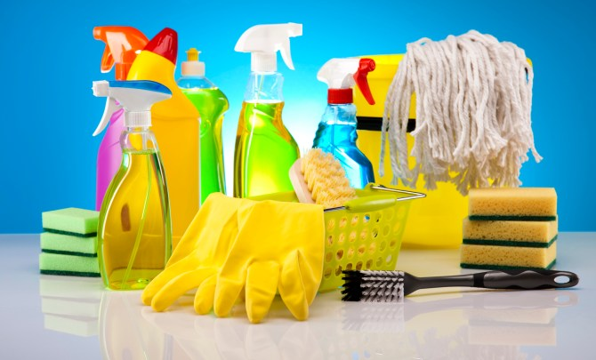 Cleaning products for home.