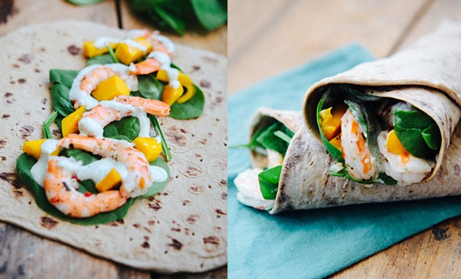 Mango and Shrimp Wrap recipe.