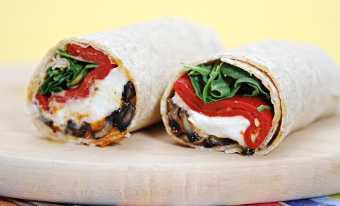 Portobello Mushroom Wraps with Buffalo Mozzarella  and Piquillo Peppers recipe.