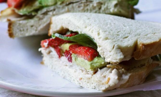 Smoked Turkey and Strawberry Sandwich recipe.